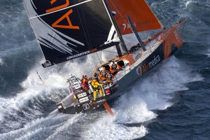 November 19, 2014. Team Alvimedica at the start of leg 2 from Cape Town to Abu Dhabi.